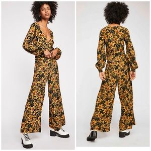 Free People Love Letter Pants Floral 2 Flare New